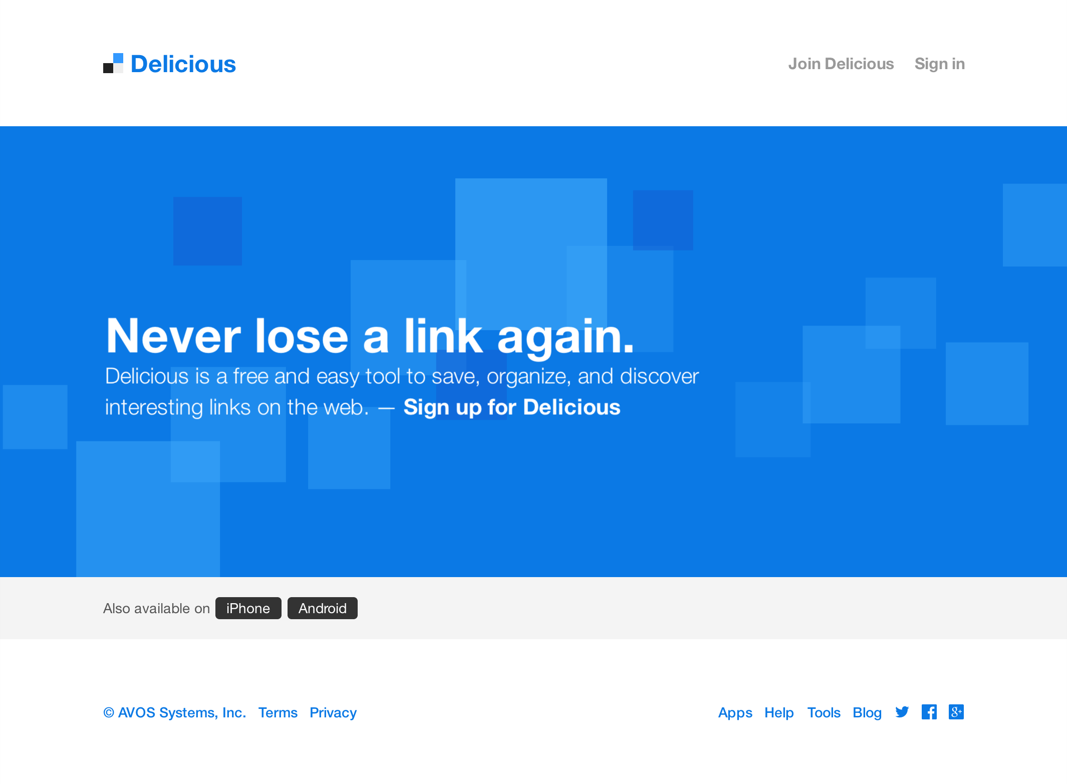 Delicious Landing Page (Mouseover)
