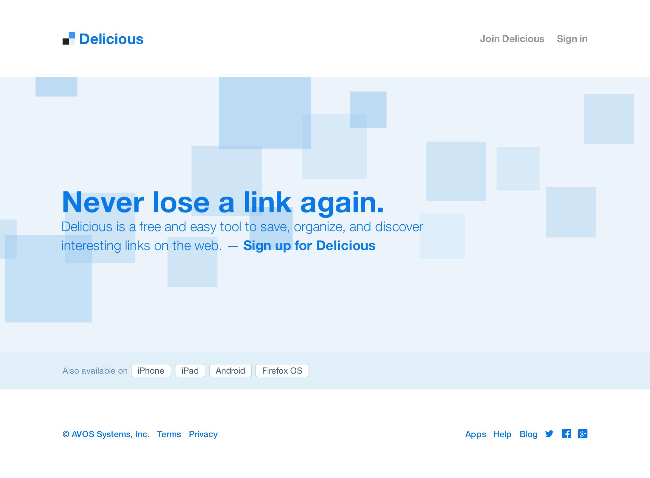 Delicious Landing Page