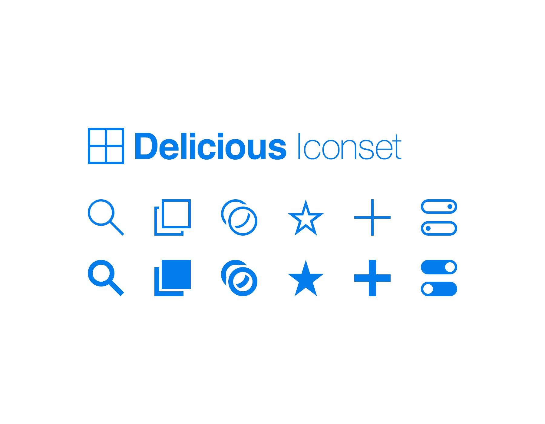 Delicious Iconset