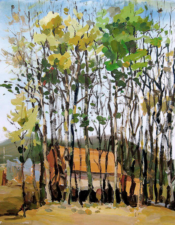 Gouache - Trees